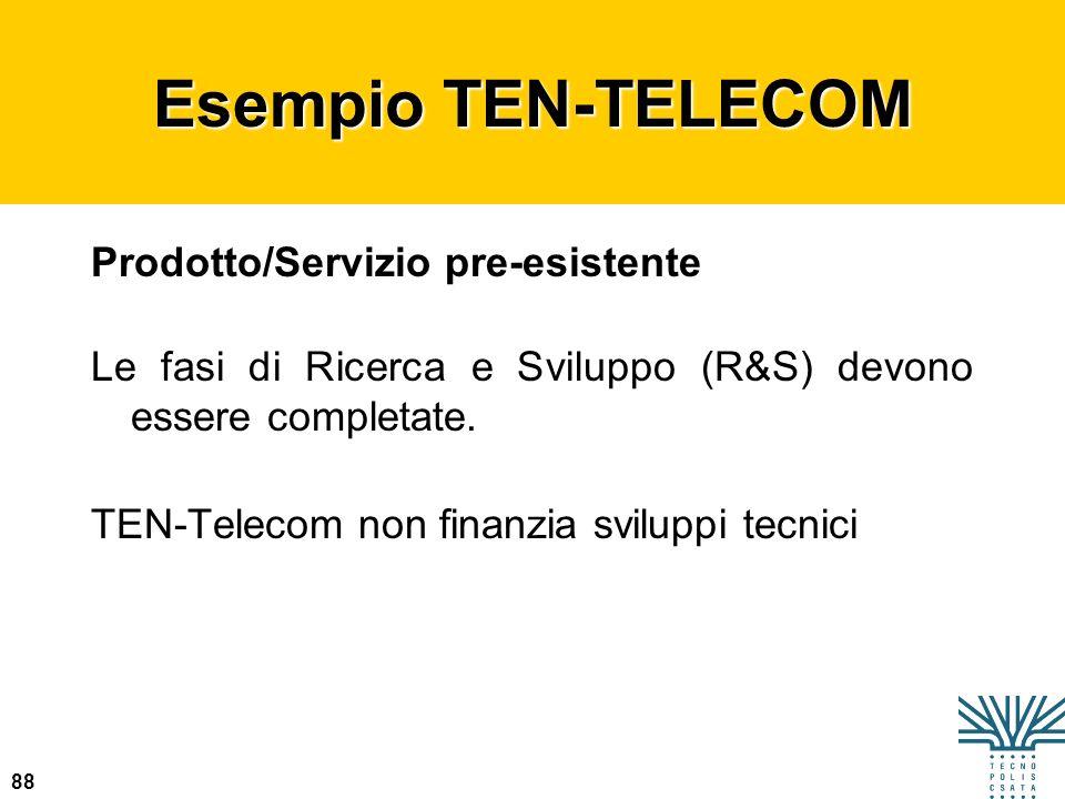 Esempio TEN-TELECOM Prodotto/Servizio pre-esistente