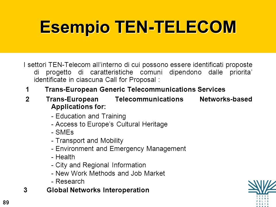 Esempio TEN-TELECOM