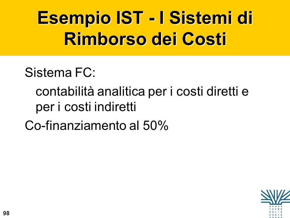 Esempio IST - I Sistemi di Rimborso dei Costi