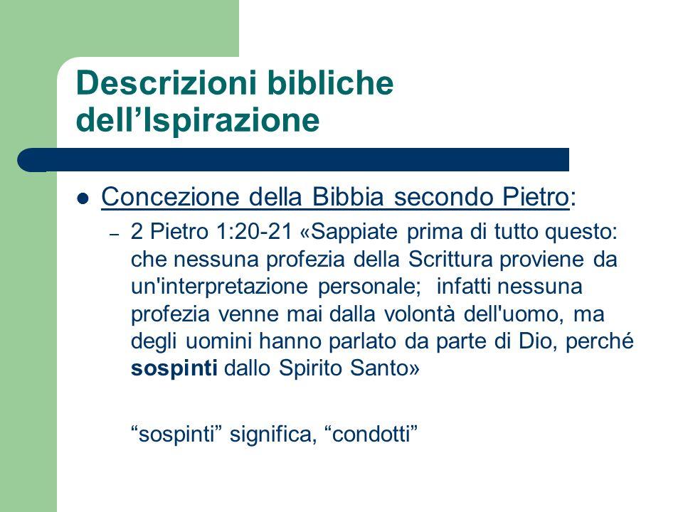 Descrizioni bibliche dell'Ispirazione