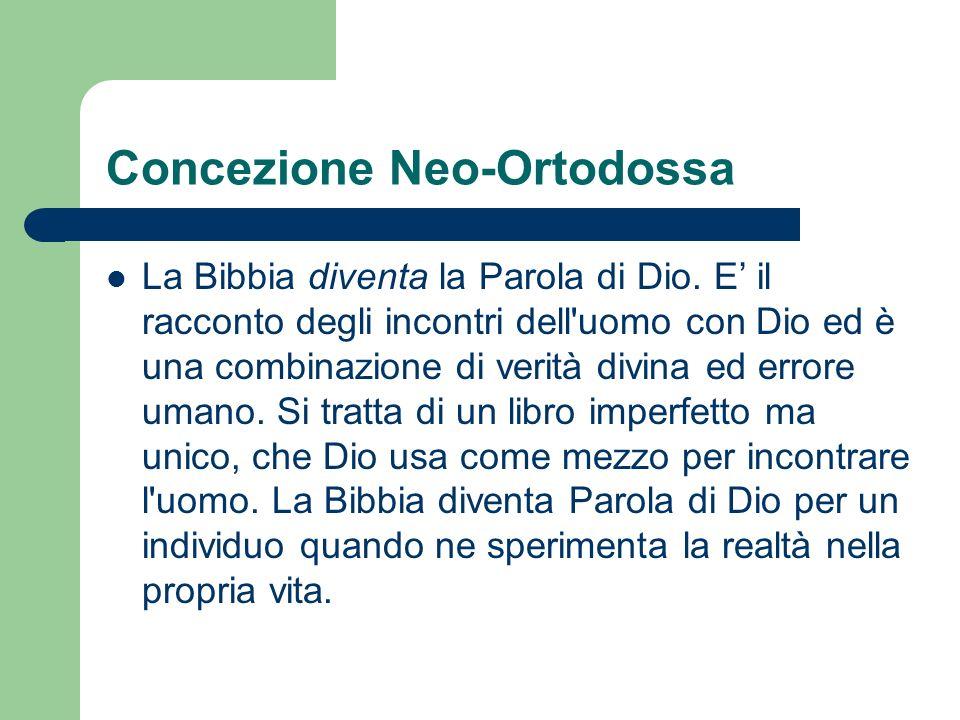 Concezione Neo-Ortodossa