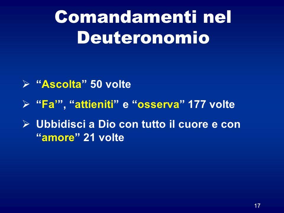 Comandamenti nel Deuteronomio