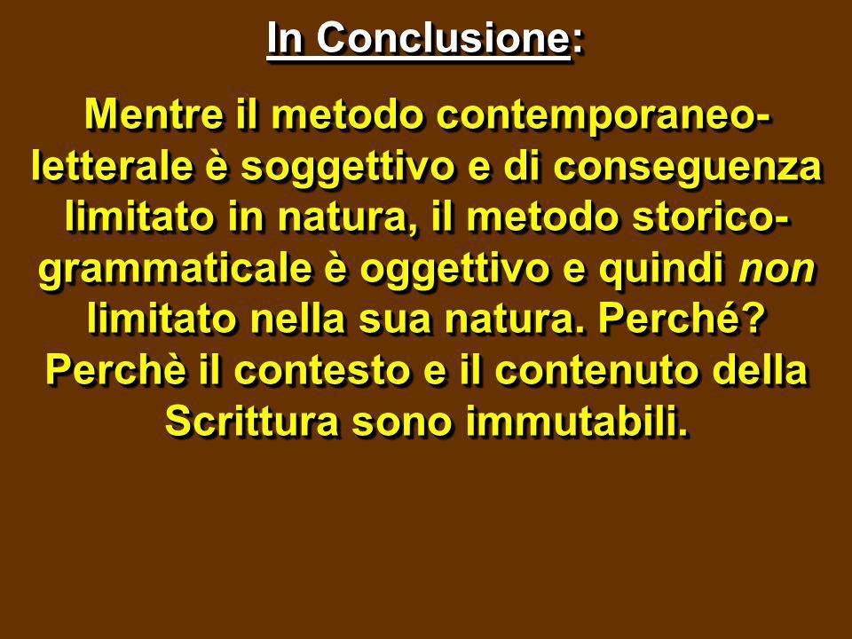 In Conclusione: