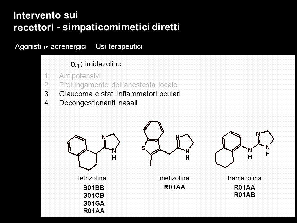 Intervento sui recettori - simpaticomimetici diretti
