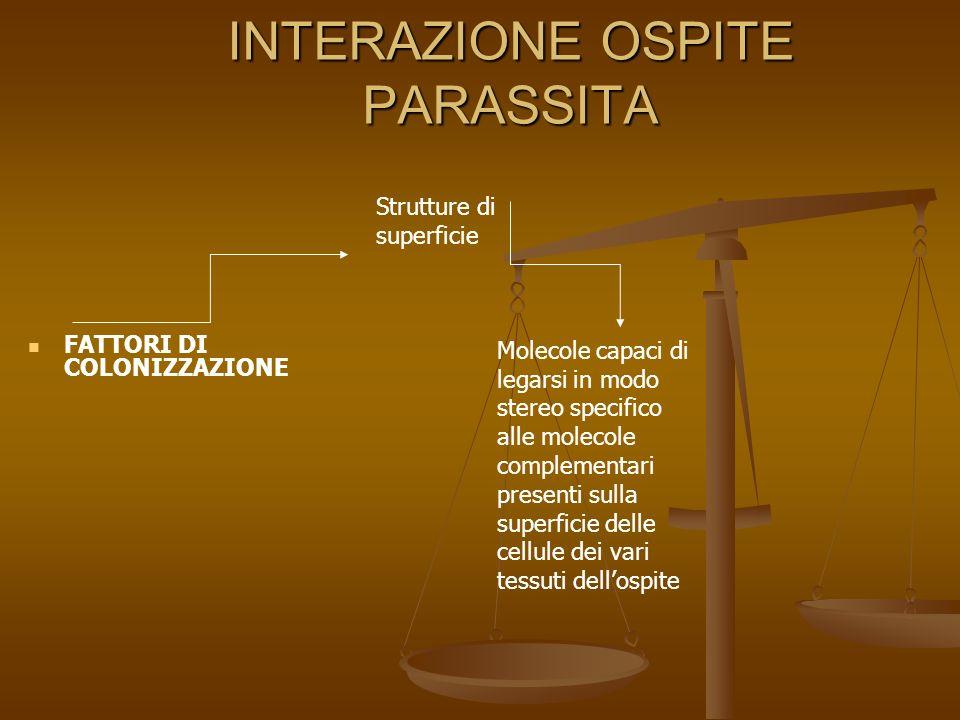 INTERAZIONE OSPITE PARASSITA