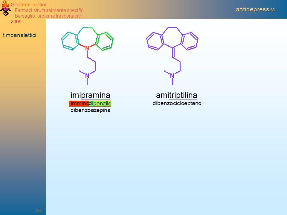 imipramina amitriptilina antidepressivi timoanalettici imminodibenzile