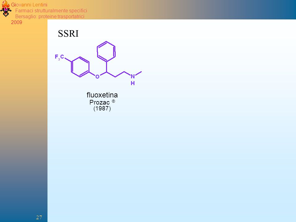 2005 SSRI fluoxetina Prozac ® (1987)