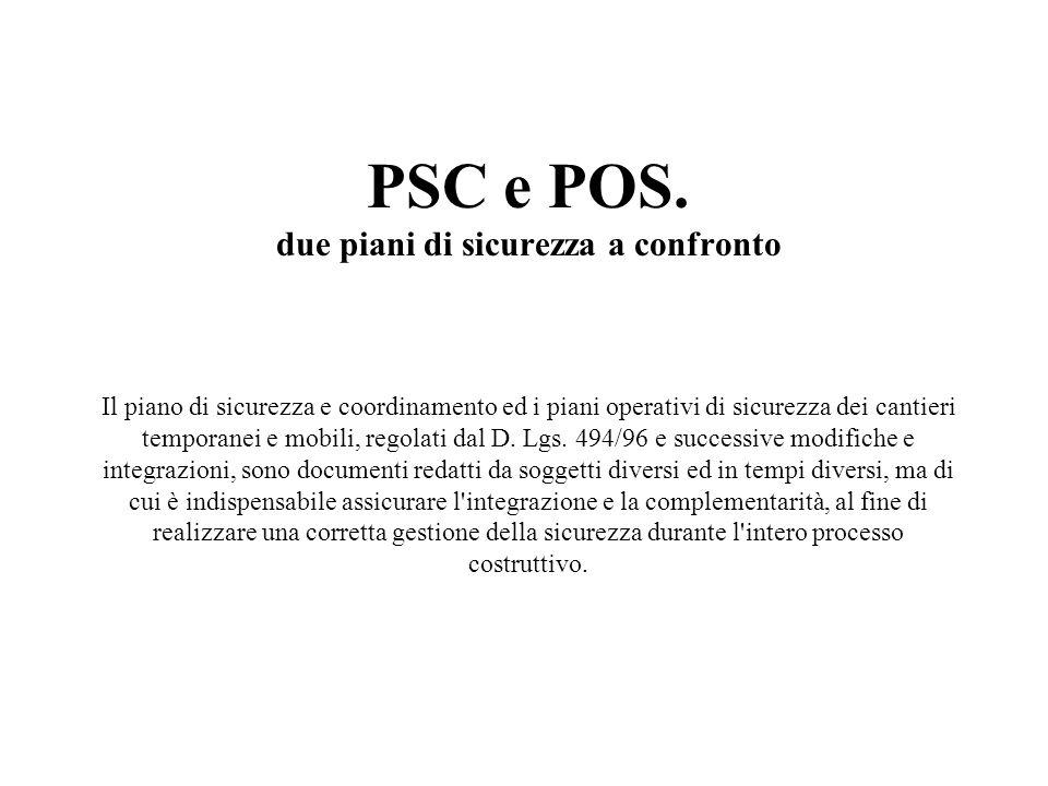 PSC e POS.