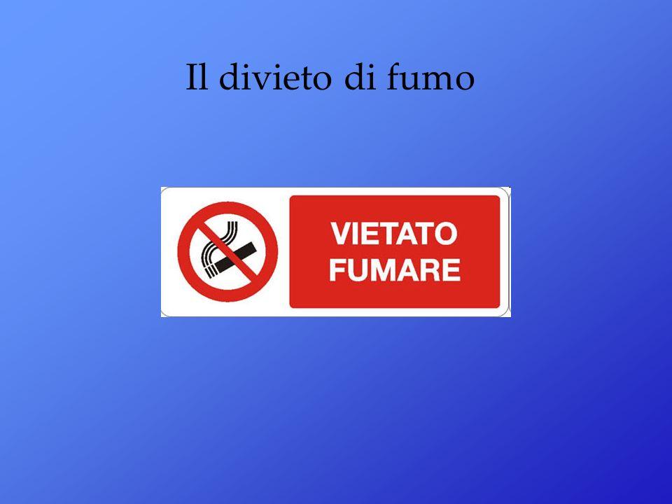 Il divieto di fumo