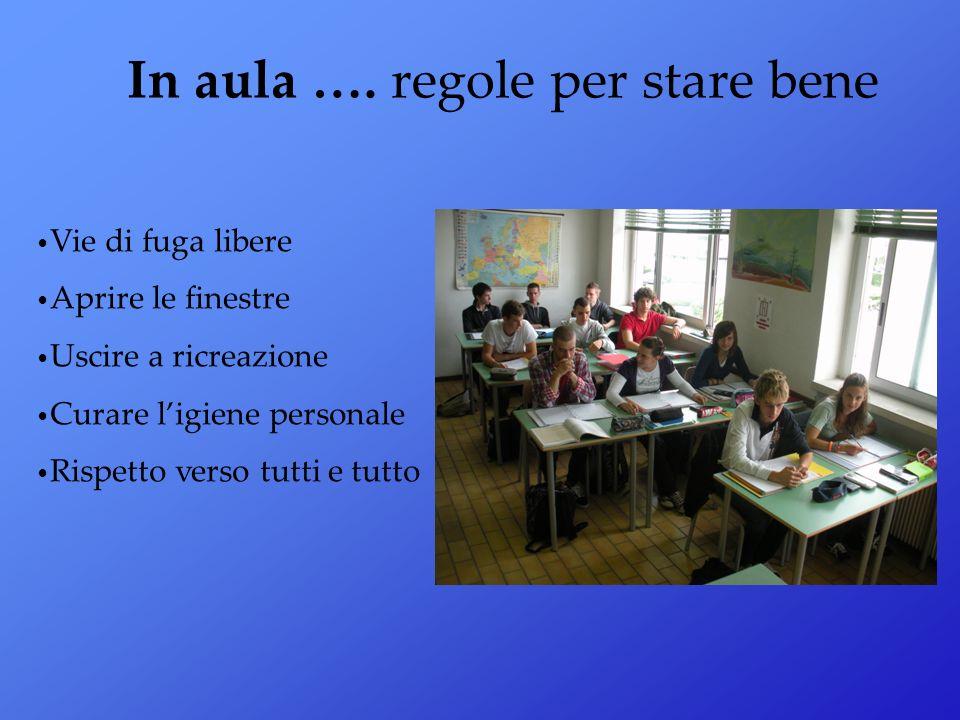 In aula …. regole per stare bene
