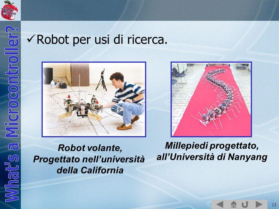 Robot per usi di ricerca.