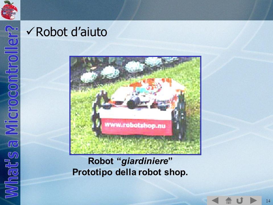 Prototipo della robot shop.