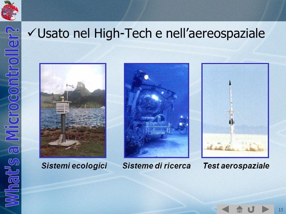 Usato nel High-Tech e nell'aereospaziale