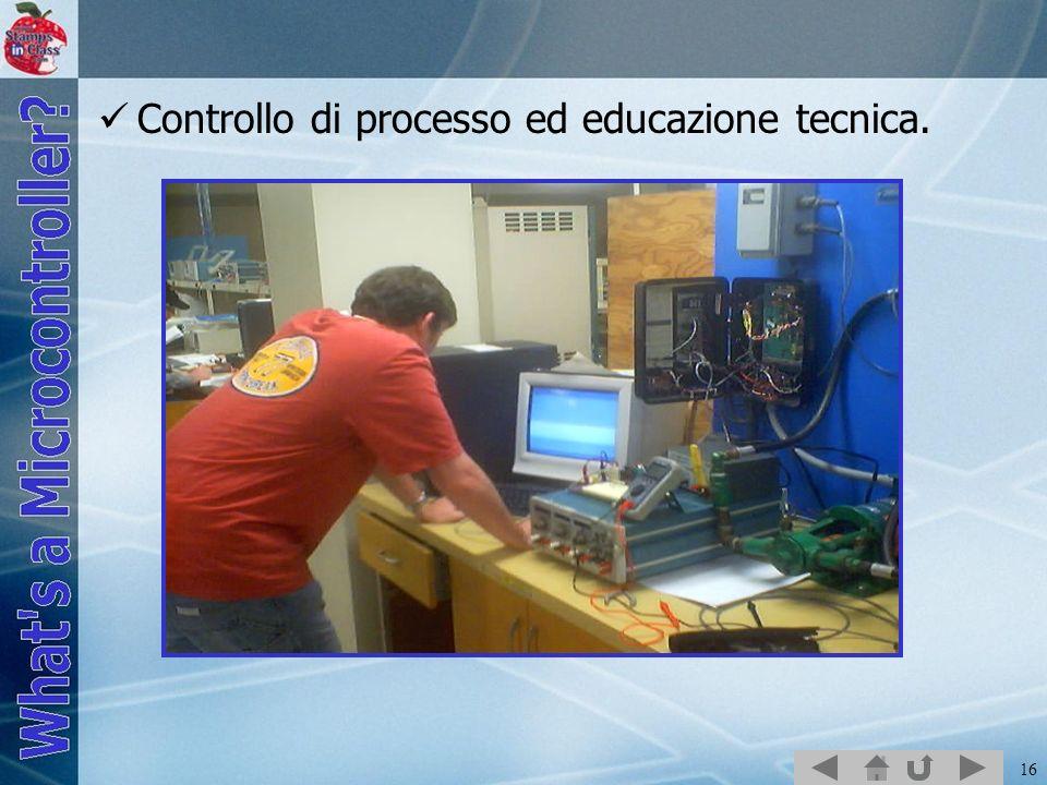Controllo di processo ed educazione tecnica.