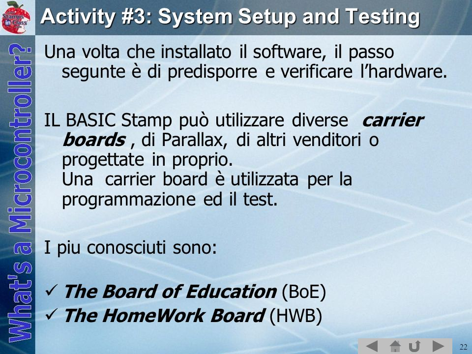 Activity #3: System Setup and Testing