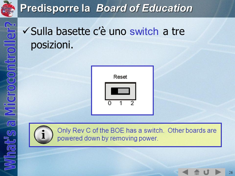 Predisporre la Board of Education