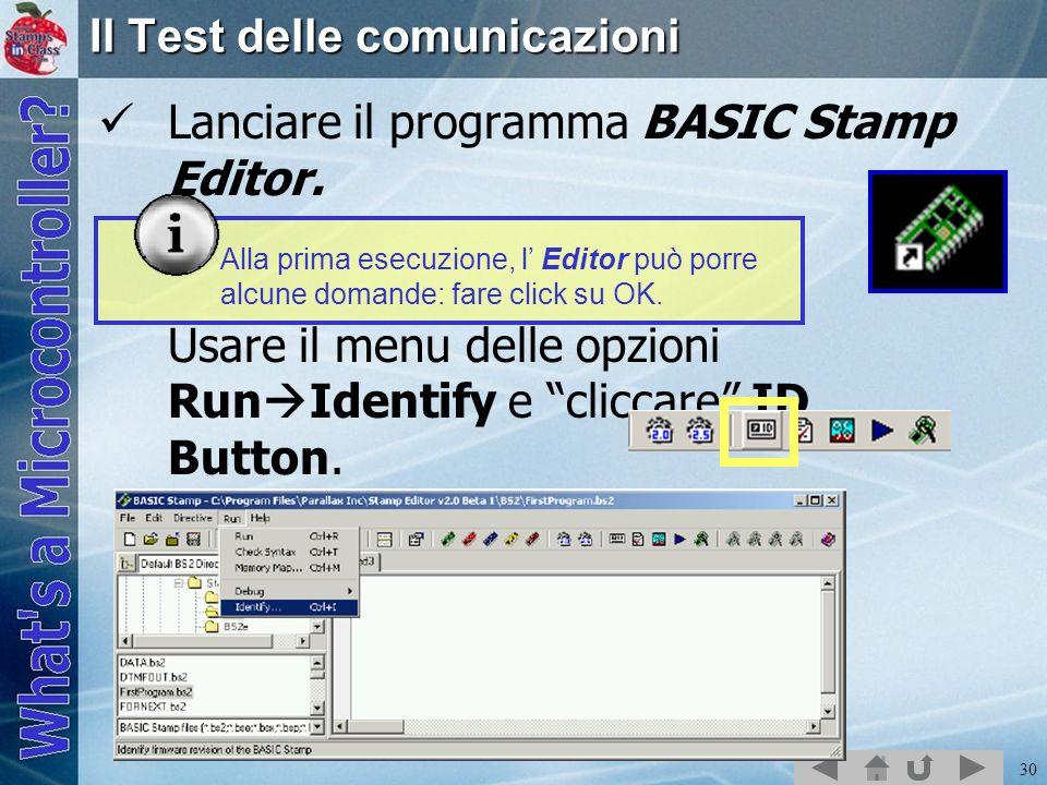 Il Test delle comunicazioni
