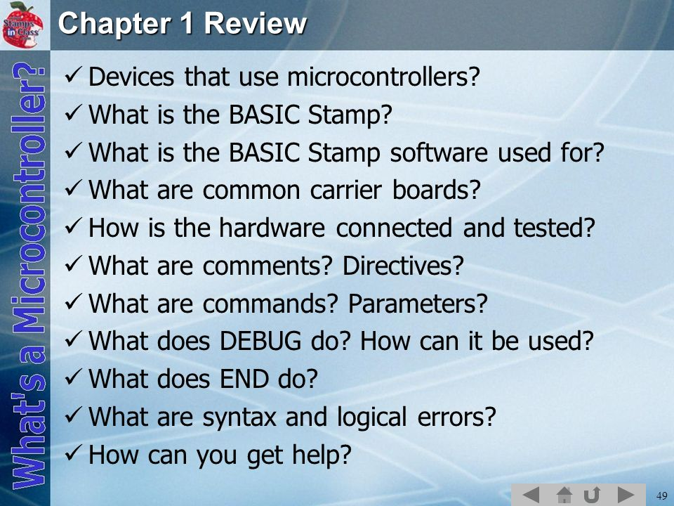 Chapter 1 Review Devices that use microcontrollers