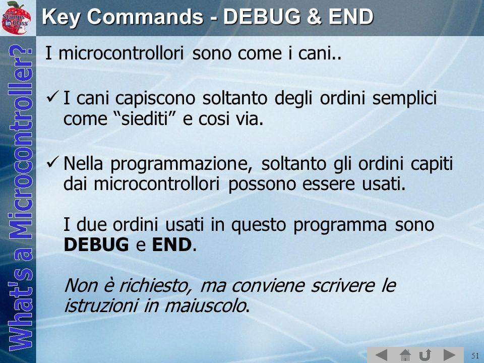 Key Commands - DEBUG & END