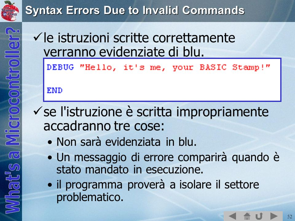 Syntax Errors Due to Invalid Commands
