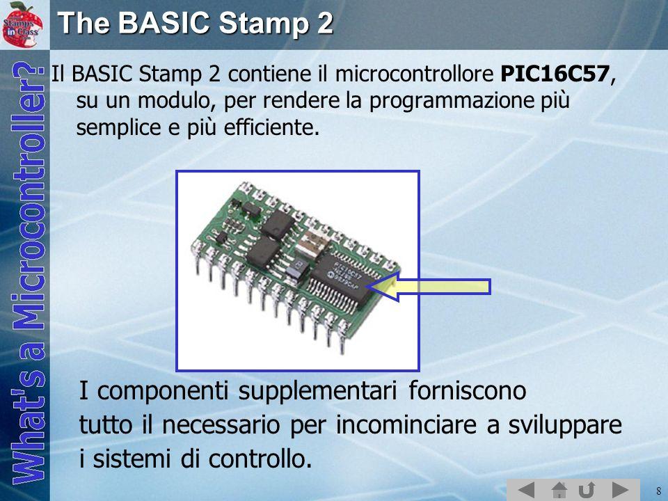 The BASIC Stamp 2 I componenti supplementari forniscono