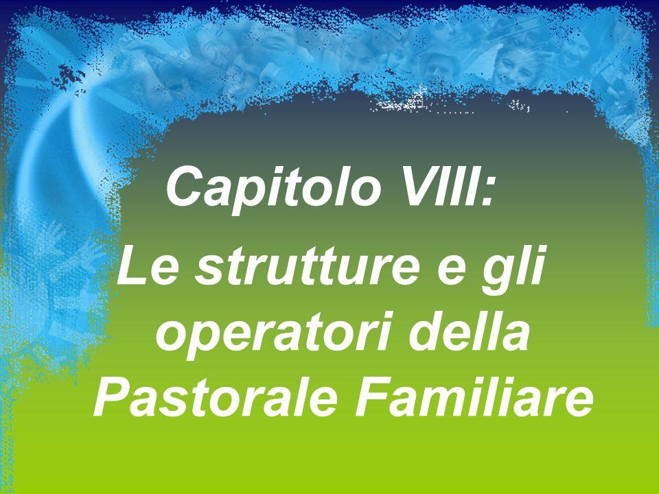 Le strutture e gli operatori della Pastorale Familiare