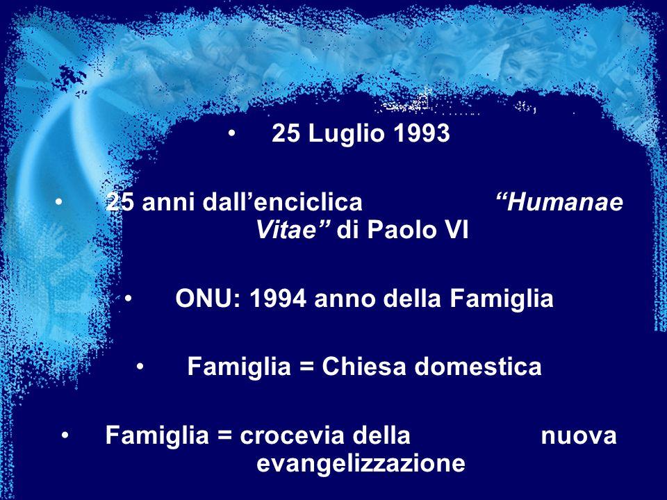 25 anni dall'enciclica Humanae Vitae di Paolo VI