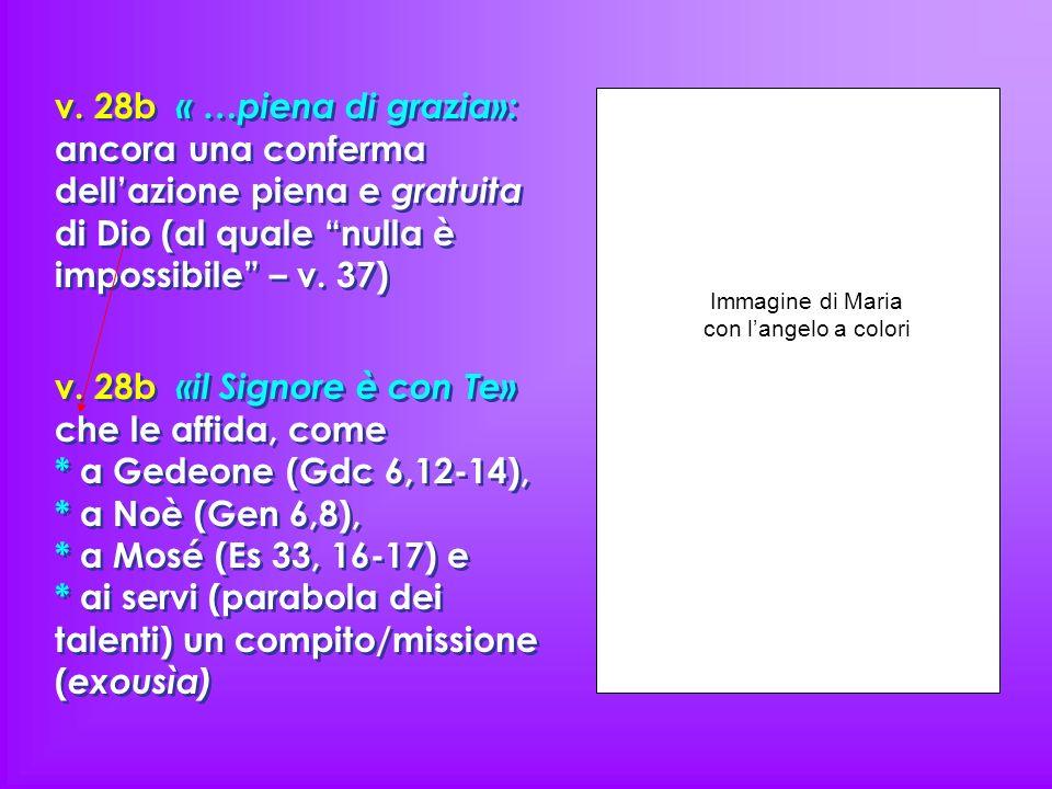 Immagine di Maria con l'angelo a colori