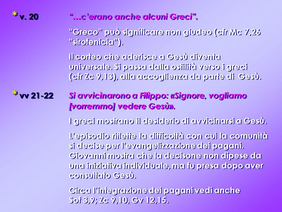 * v. 20 …c'erano anche alcuni Greci .