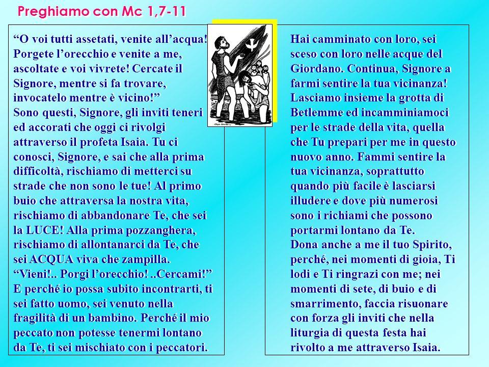 Preghiamo con Mc 1,7-11