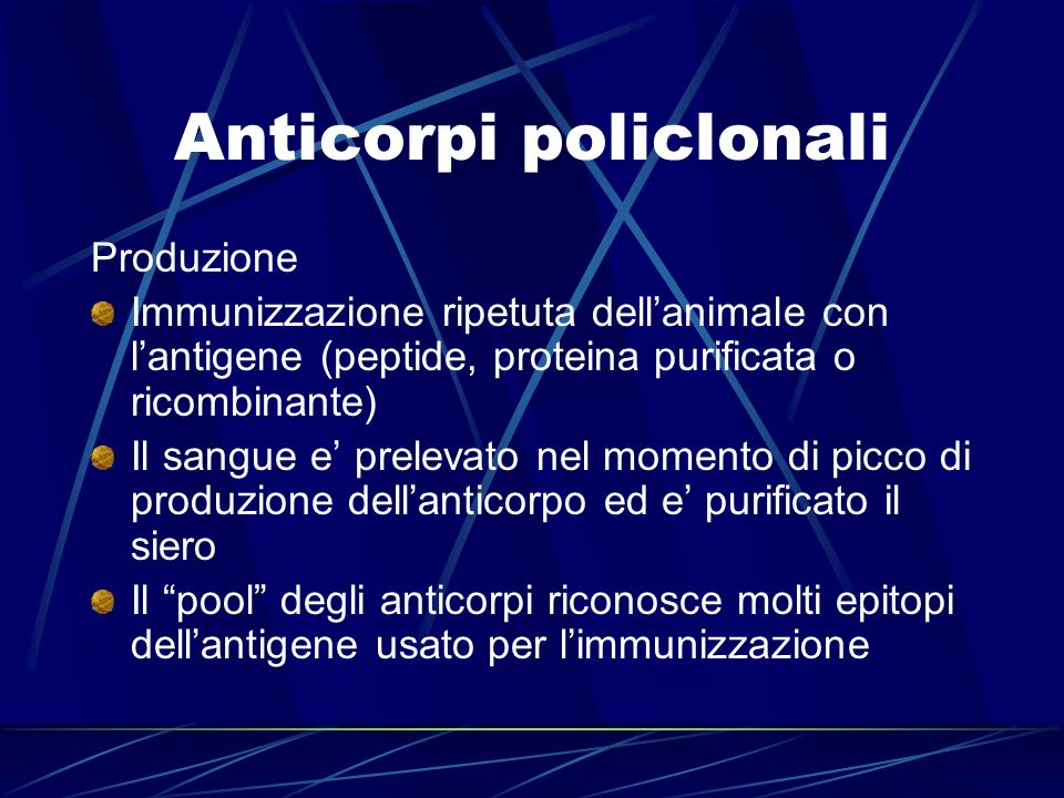 Anticorpi policlonali
