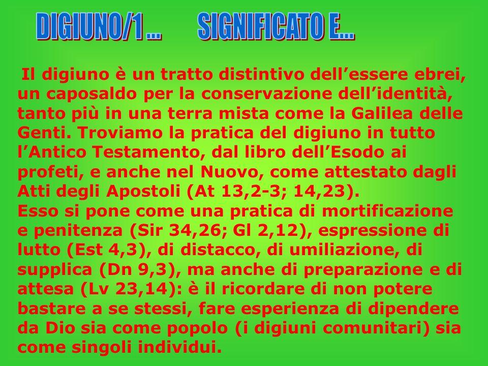 DIGIUNO/1 ... SIGNIFICATO E...