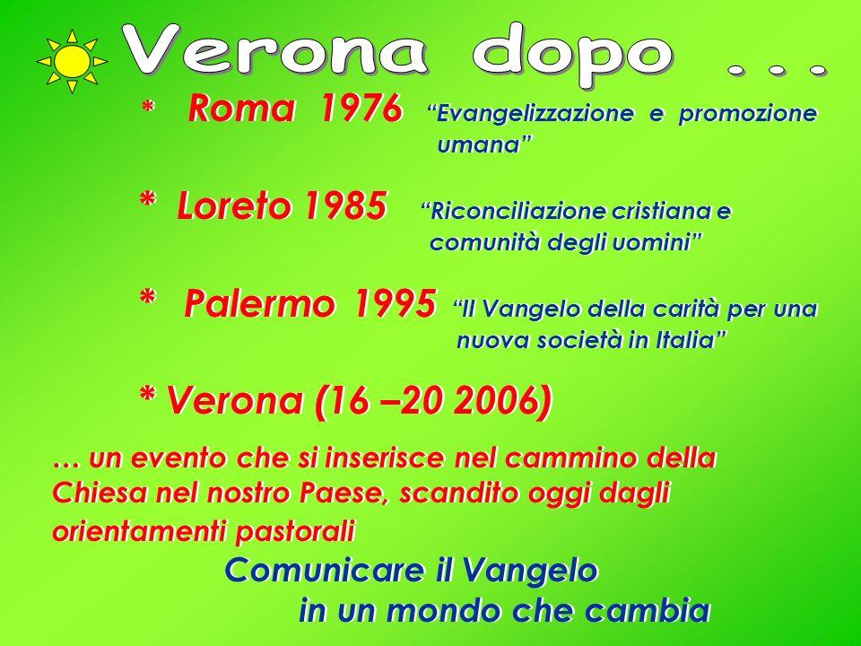 Verona dopo ... * Roma 1976 Evangelizzazione e promozione umana