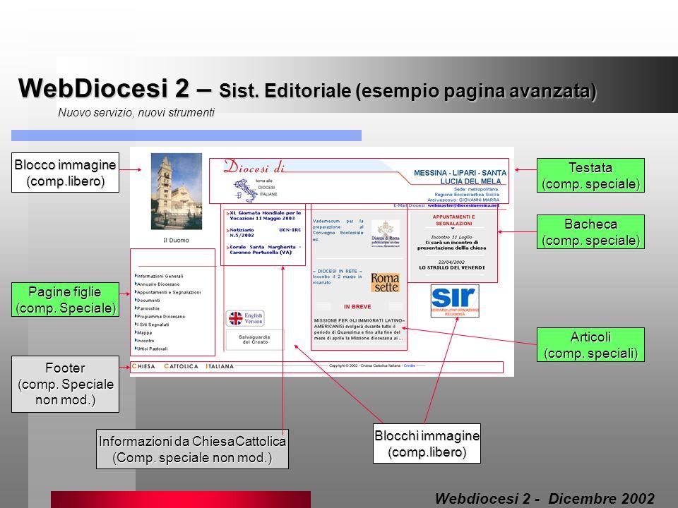 WebDiocesi 2 – Sist. Editoriale (esempio pagina avanzata)