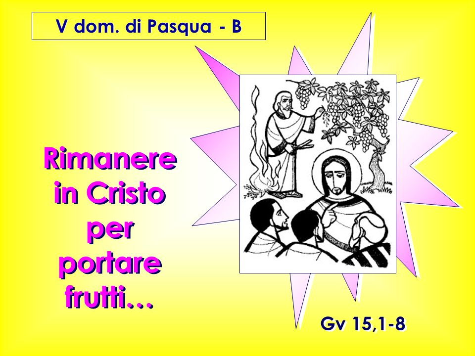 Rimanere in Cristo per portare frutti…