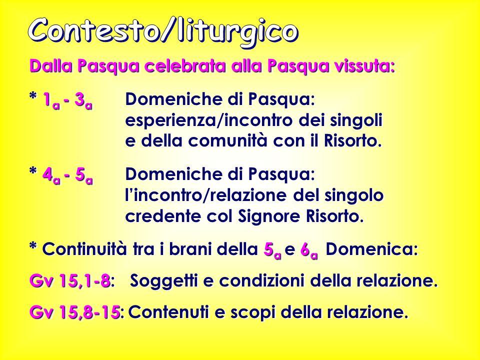 Contesto/liturgico Dalla Pasqua celebrata alla Pasqua vissuta: