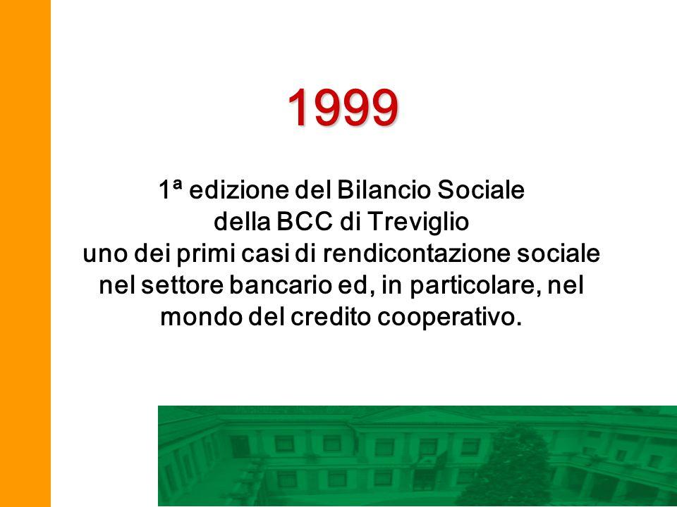 1ª edizione del Bilancio Sociale