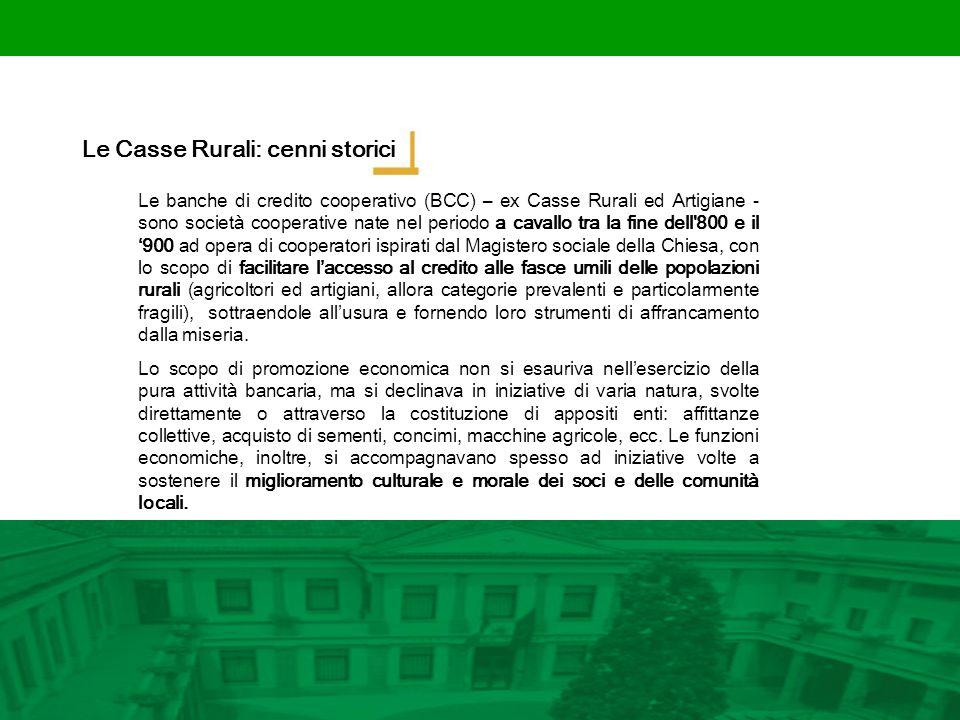 Le Casse Rurali: cenni storici