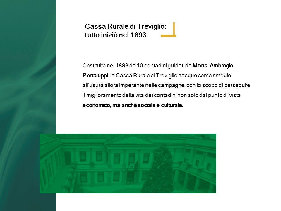 Cassa Rurale di Treviglio: tutto iniziò nel 1893