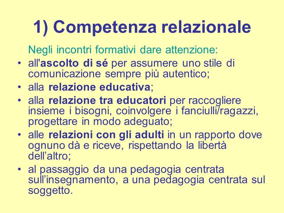 1) Competenza relazionale