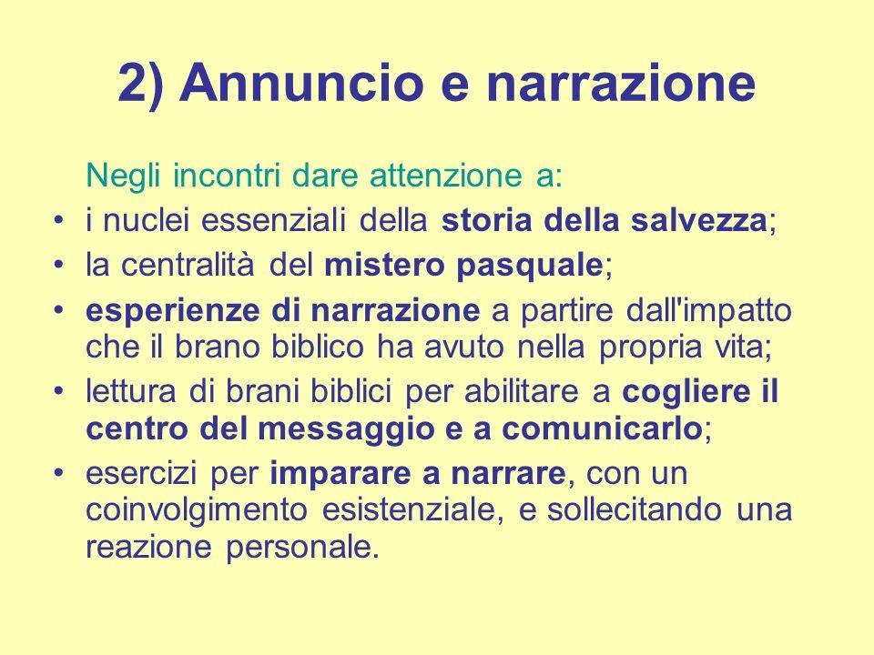 2) Annuncio e narrazione