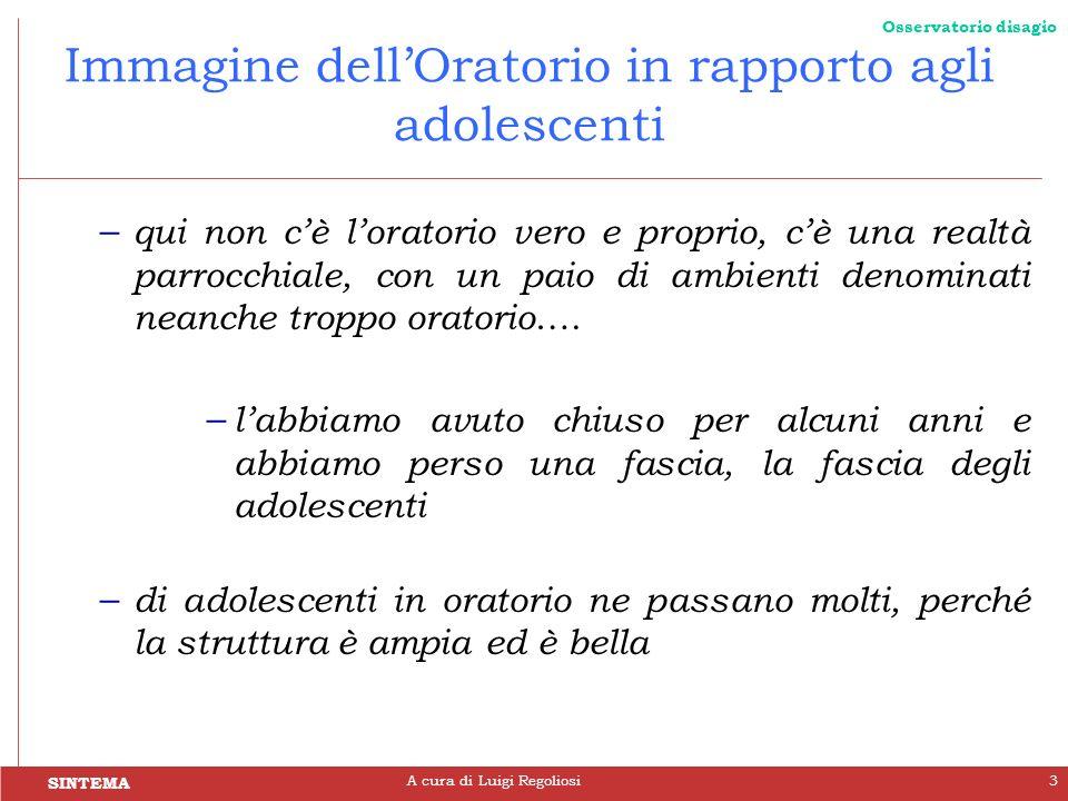 Immagine dell'Oratorio in rapporto agli adolescenti