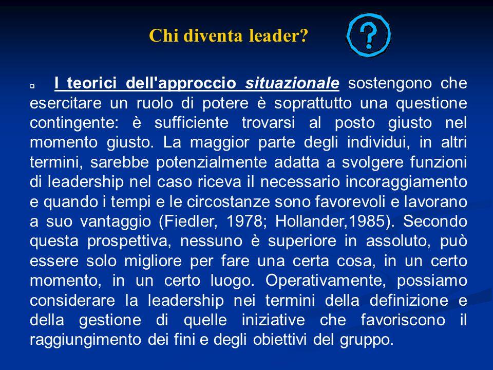 Chi diventa leader