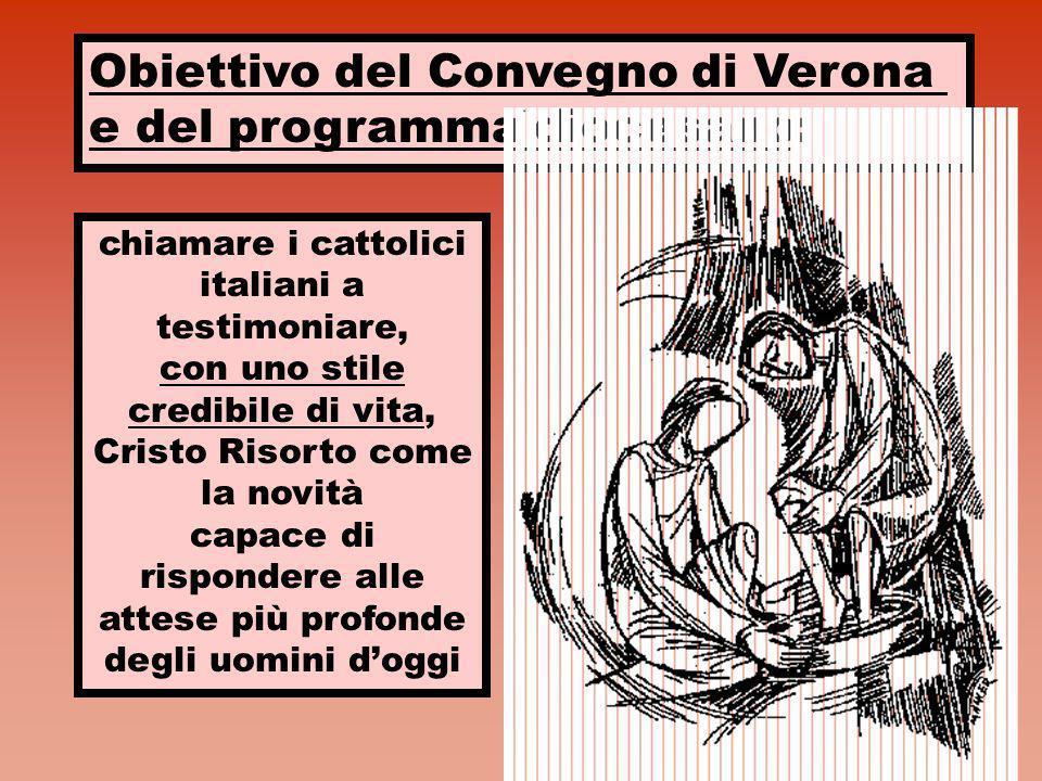 Obiettivo del Convegno di Verona e del programma diocesano:
