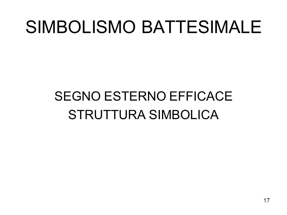 SIMBOLISMO BATTESIMALE