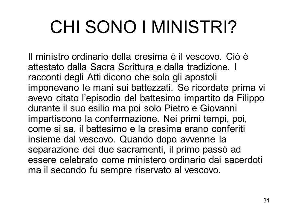 CHI SONO I MINISTRI