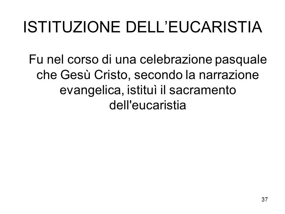 ISTITUZIONE DELL'EUCARISTIA