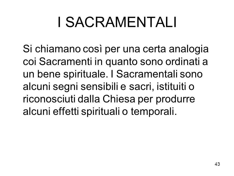 I SACRAMENTALI