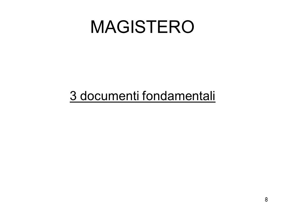 3 documenti fondamentali