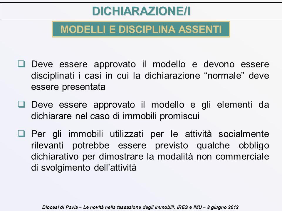 MODELLI E DISCIPLINA ASSENTI